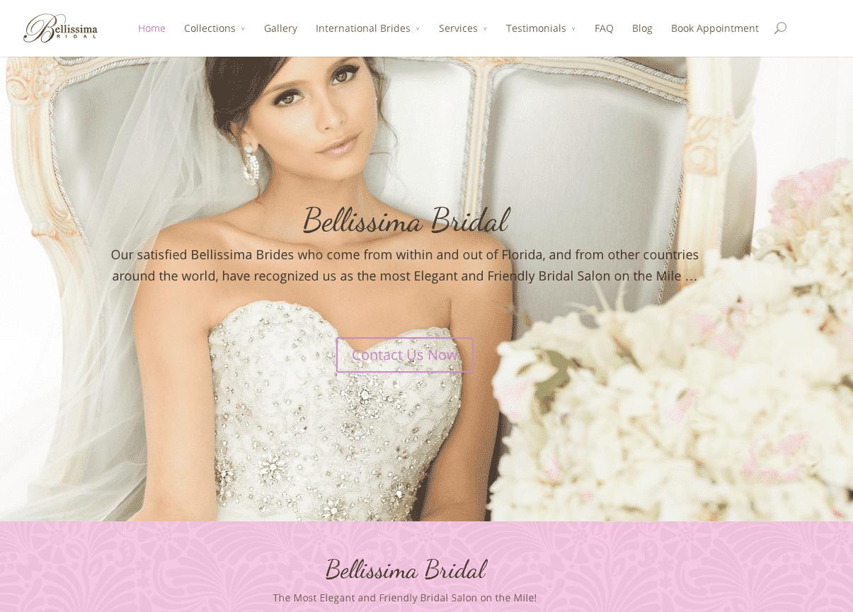 bridal website development miami