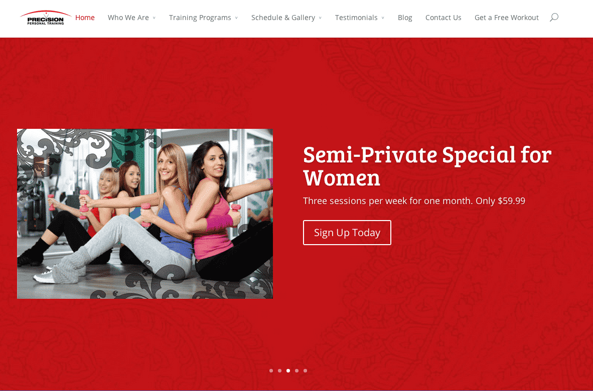 personal trainer website development miami